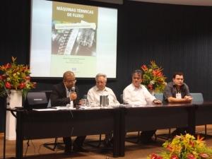 Prof. Electo Lora, Prof. Zulcy de Souza, Prof. Paulo Waki (vice-reitor) e Prof. Oswaldo Venturini