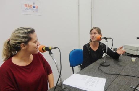 A apresentadora Giuliana Capistrano com a pedagoga Bernadette Vilhena